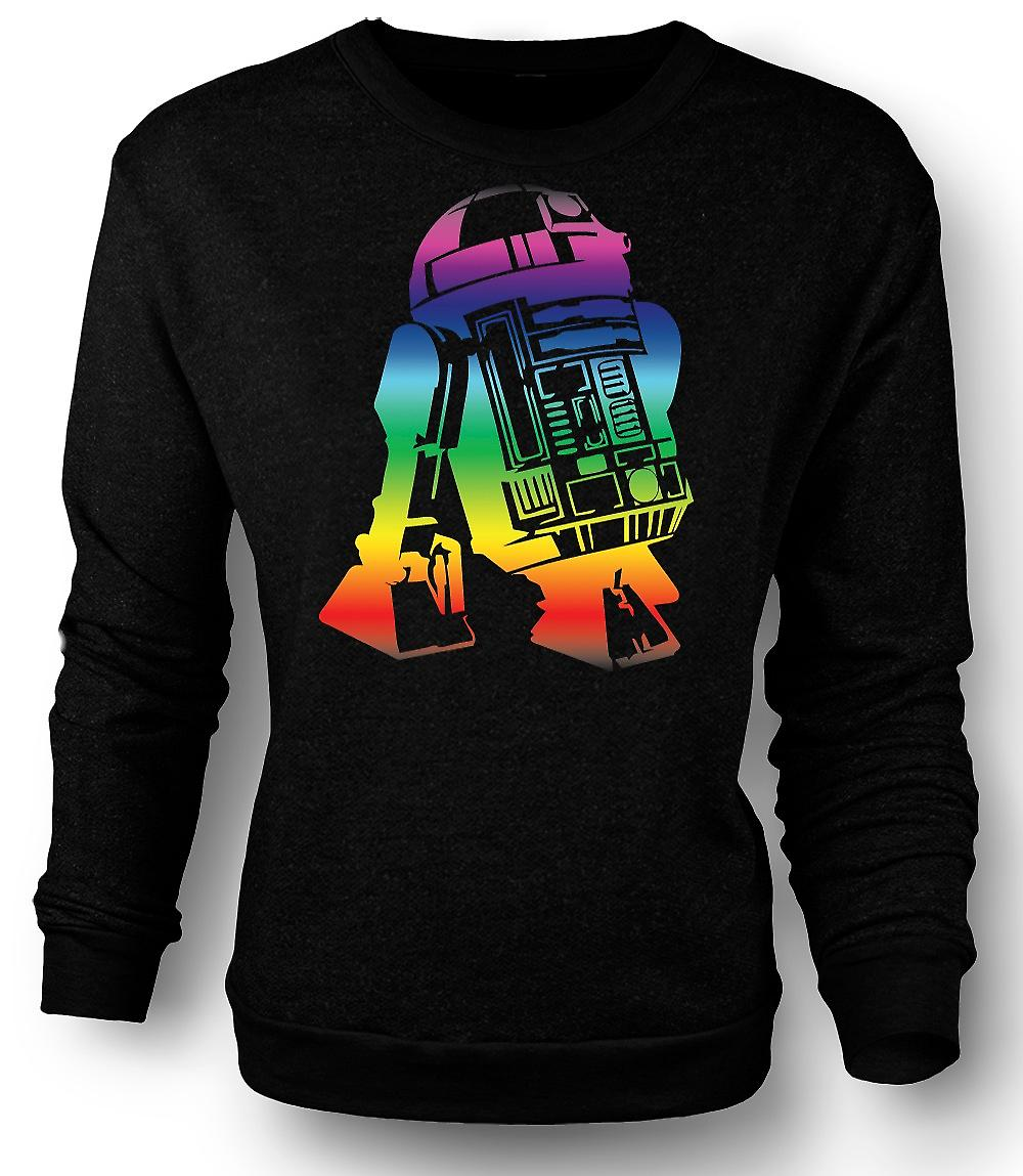 Mens Sweatshirt R2D2 Star Wars Inspired Design
