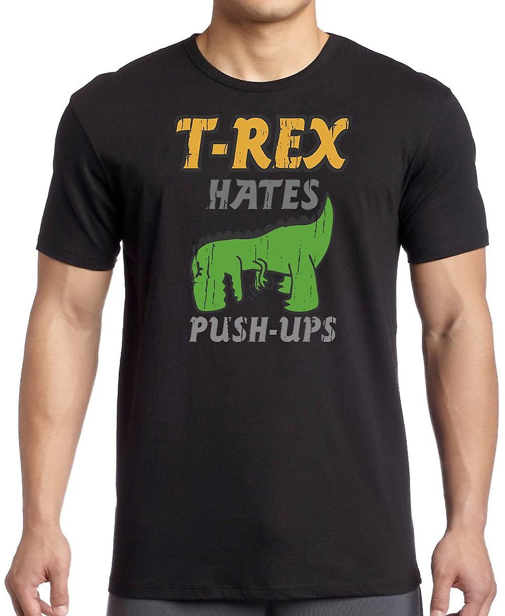 T-Rex Hates Push Ups - Funny Dinosaur Women T Shirt