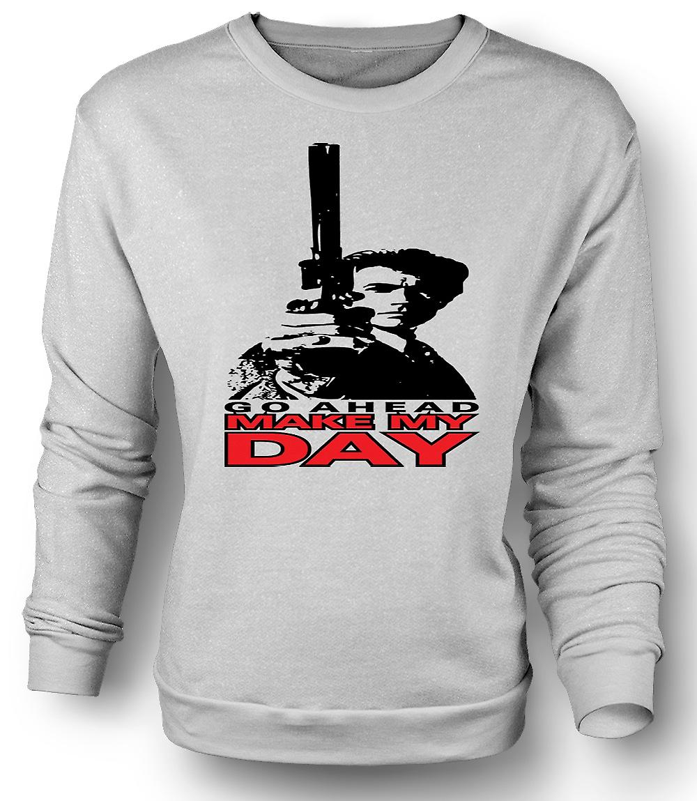 Mens Sweatshirt Dirty Harry gör min dag - Clint