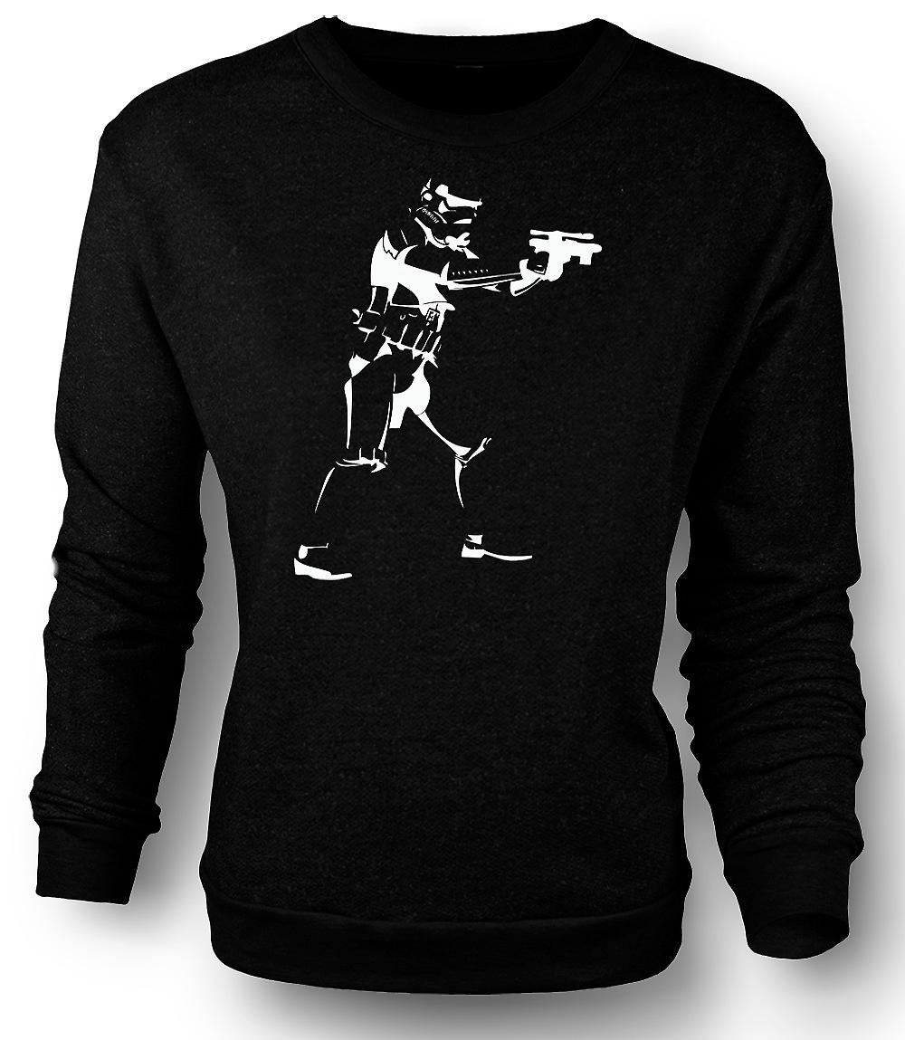 Mens Sweatshirt Star Wars - Storm Trooper - Pop-Art