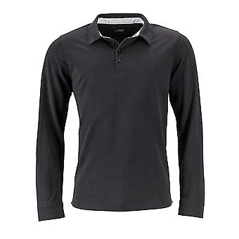 James and Nicholson Mens Long-Sleeve Polo