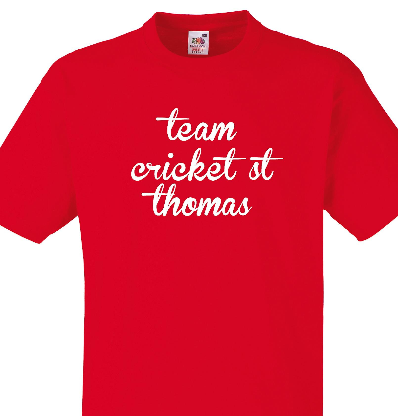 Team Cricket st thomas Red T shirt