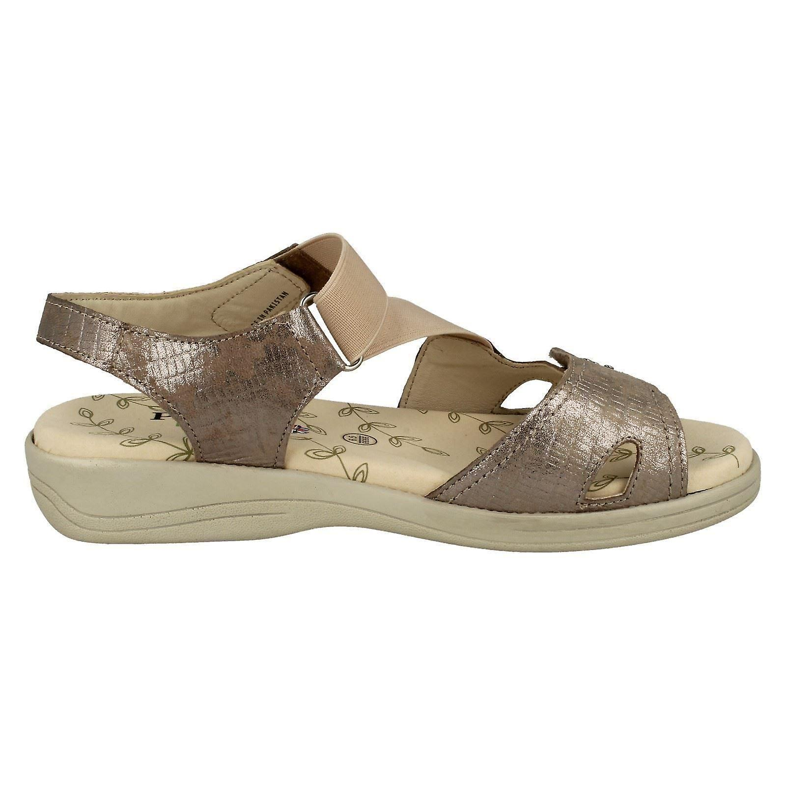 cf33e19e9 Ladies Padders Hook   Loop Fastening Sandals Cruise - Metallic Reptile  Leather - UK Size 7