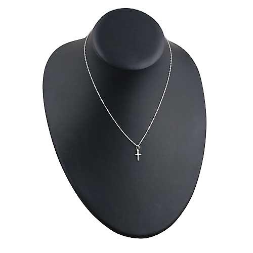 Silver 10x9mm Cross symbol of faith Pendant with a rolo Chain 16 inches Only Suitable for Children