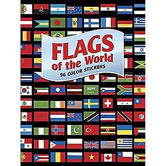 Verdens flagg: 96 farge klistremerker