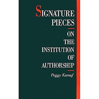 Signatur bitar: På institutionen i författarskap