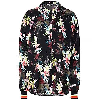 Ilse Jacobsen Floral Print Shirt With Ribbed Cuffs