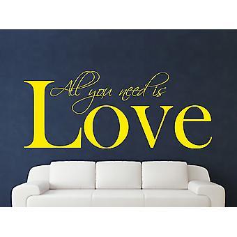 Alt hvad du behøver væg kunst klistermærke - lyse gule