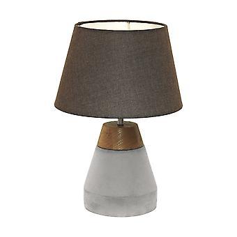 Eglo - Tarega Single Light Tisch Lampe In grauen Beton und Holz zu beenden EG95527