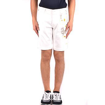 Shorts de algodão branco de Jacob Cohen