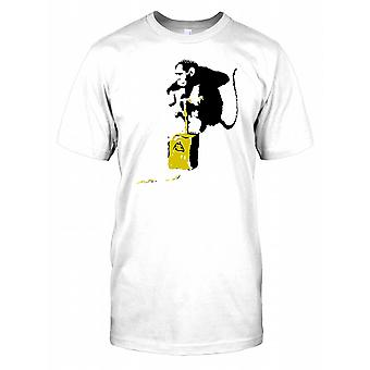 Banksy - Demolition Chimp - Urban Artist Mens T Shirt