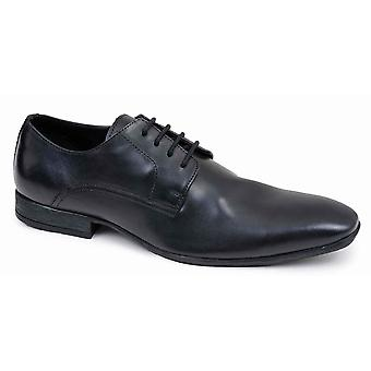 Mens Leather Derby Shoes Lace Up Office Work Suit Wedding Formal Dress