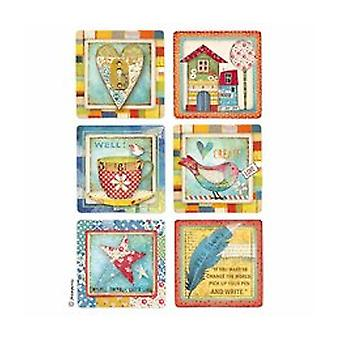 Stamperia Rice Paper A4 Patchwork Gift (DFSA4331)