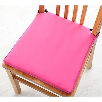 Pack mit 8 Baumwoll-Twill-Twill-Dining Chair Seat Pad Kissen-Pink