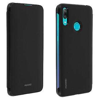 Huawei Y7 2019 Cover Full Protector Card Case-Schwarz