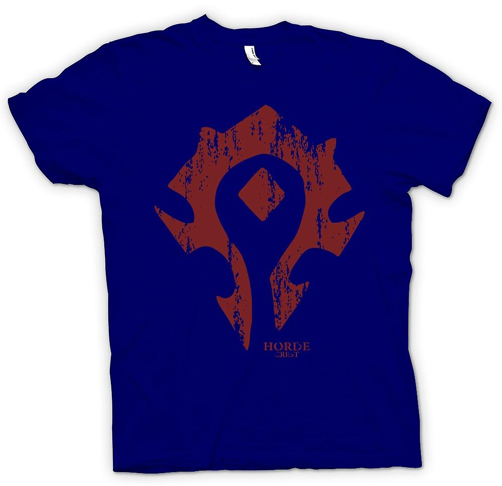 Mens T-shirt - Horde Crest Logo - World Of Warcraft inspiré
