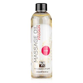 Massage oil with rose scent