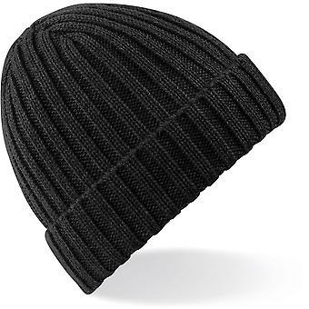 Beechfield-chunky Ribbstickad mössa hatt
