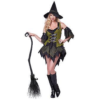 Verzaubern Babe Wicked Hexe Zauberin Zauberin Halloween Frauen Kostüm