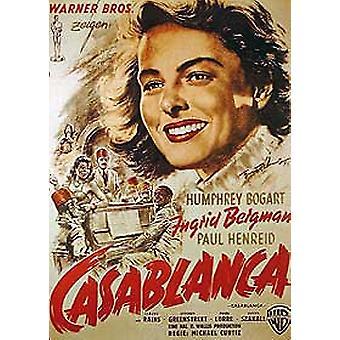 Casablanca (German Single Sided Reprint) Reprint Poster