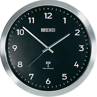 Radio Wall clock Eurochron EFWU 2601 38 cm x 48 mm Aluminium (brushed)