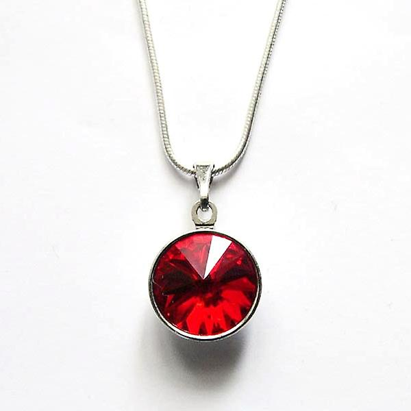 Pendant necklace with red crystal PMB 2.5