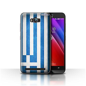 STUFF4 Case/Cover for Asus Zenfone Max ZC550KL/Greece/Greek/Flags