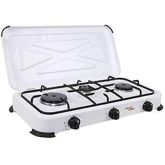 Comgas 3-burner gas stove with cover. (Garden , Camping , Kitchen)