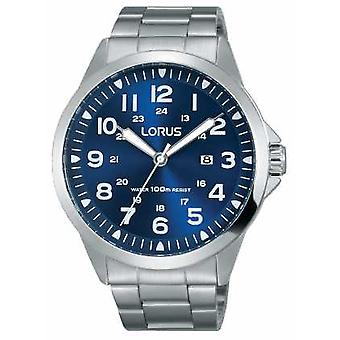 Lorus Mens Stainless Steel Bracelet Blue Dial RH925GX9 Watch