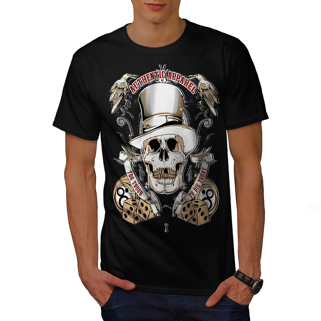 Authentic Dead Casino Game Head Men Black T-shirt | Wellcoda