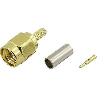 SMA connector Plug, straight 50 Ω Conrad Components 93038c7 1 pc(s)