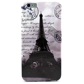 Eiffel Tower TPU gummi skal för iPhone 6 Plus 5,5