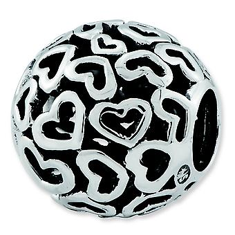 Sterling Silver Reflections Hearts Bali Bead Charm