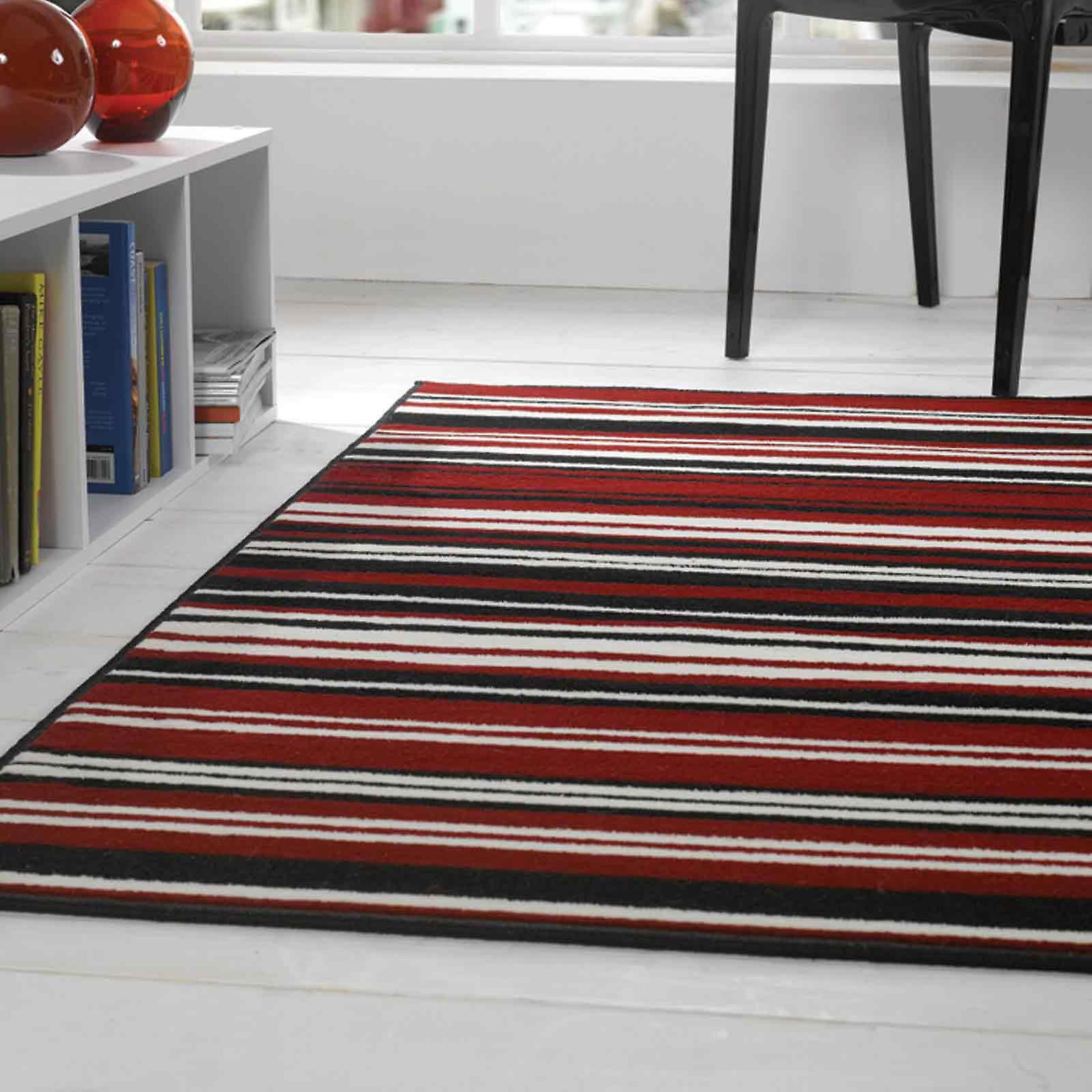 Element Canterbury Rugs In Red Black
