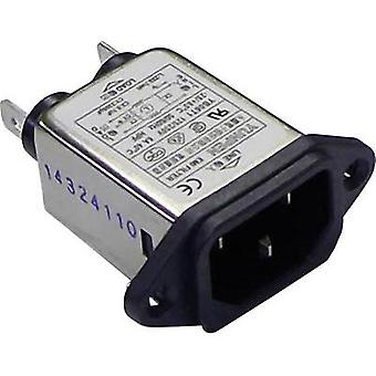 Mains filter + IEC socket 250 Vac 6 A 0.7 mH (L x