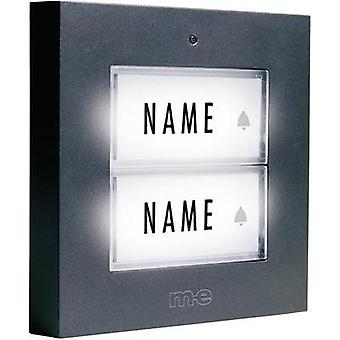 Bell panel backlit, with nameplate 2x m-e modern-electronics KTB-2 A Anthracite 12 V/1 A