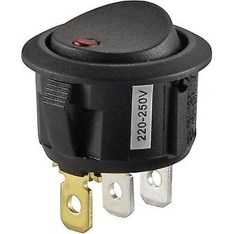 Toggle switch 250 Vac 10 A 1 x Off/On SCI R13-208B2-02 GREEN (250V/AC 150KR) latch 1 pc(s)