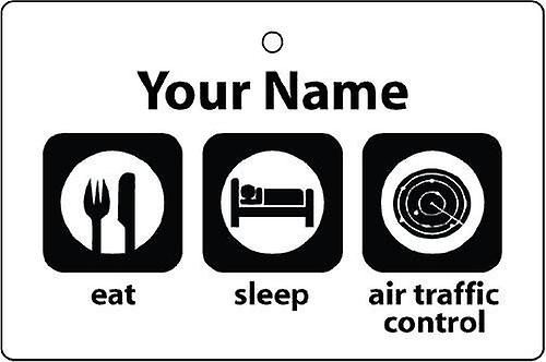 Personalised Eat Sleep Air Traffic Controller Car Air Freshener