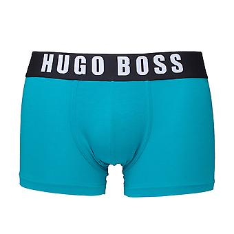 BOSS Teal Blue Cotton Stretch Boxer Trunks