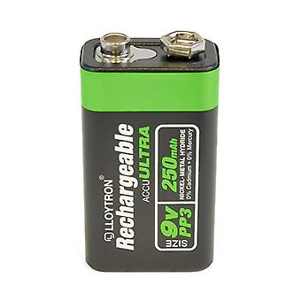 Lloytron 9 V 250 mAh NIMH AccuUltra Battery (Model No. B018)