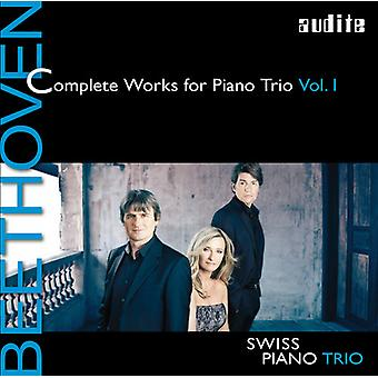 Beethoven / Zwitserse / Pno Trio - Beethoven / Zwitserse / Pno Trio: Complete Works for Pno Trio 1 [CD] USA import