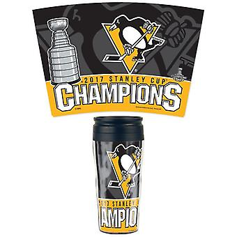 WinCraft 2017 Stanley Cup Champions Pittsburgh Penguins 16oz. Contour Travel Mug