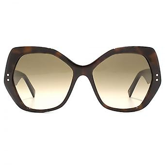 Marc Jacobs Geometric Sunglasses In Havana Brown