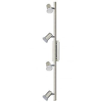 Eglo Rottelo 4 Light LED Wall/ceiling Spotlight Nickel Matt/chro