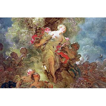 Jean Fragonard - In the Forest Poster Print Giclee