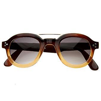 Vintage inspireret runde hornede rand P-3 solbriller