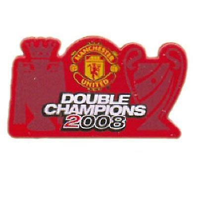 Manchester United Badge Double Champions