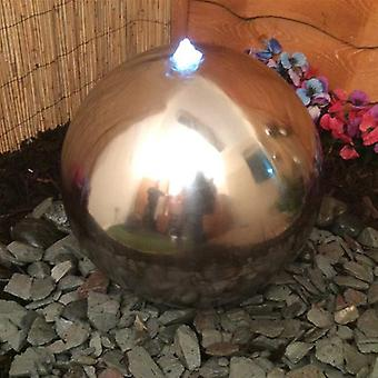 Westbury 40cm Stainless Steel Sphere Water Feature