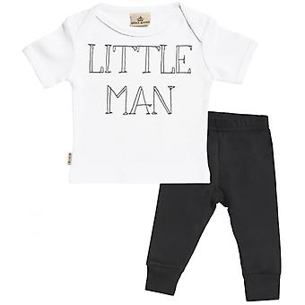 Spoilt Rotten Little Man Baby T-Shirt & Baby Jersey Trousers Outfit Set