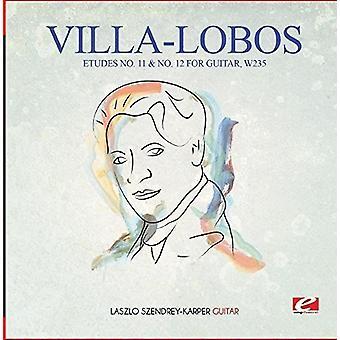 Villa-Lobos-Etudes n ° 11 & no 12 pour guitare technique W235 importation USA [CD]